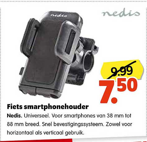 Plentyparts Fiets Smartphonehouder Nedis