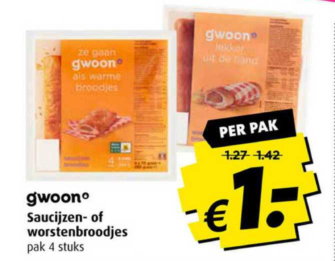 Boni Gwoon Saucijzen- Of Worstenbroodjes