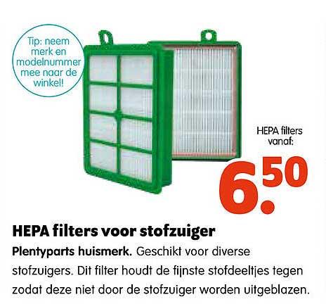 Plentyparts Hepa Filters Voor Stofzuiger Plentyparts Huismerk