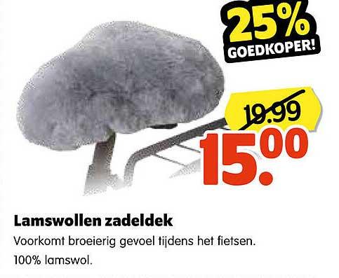 Plentyparts Lamswollen Zadeldek