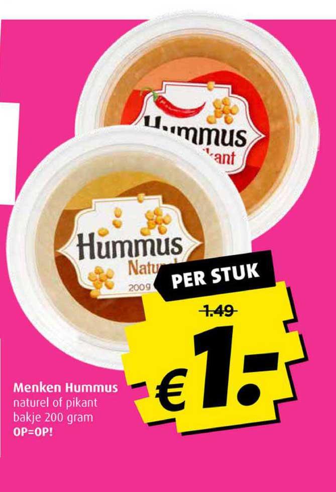 Boni Menken Hummus Naturel Of Pikant