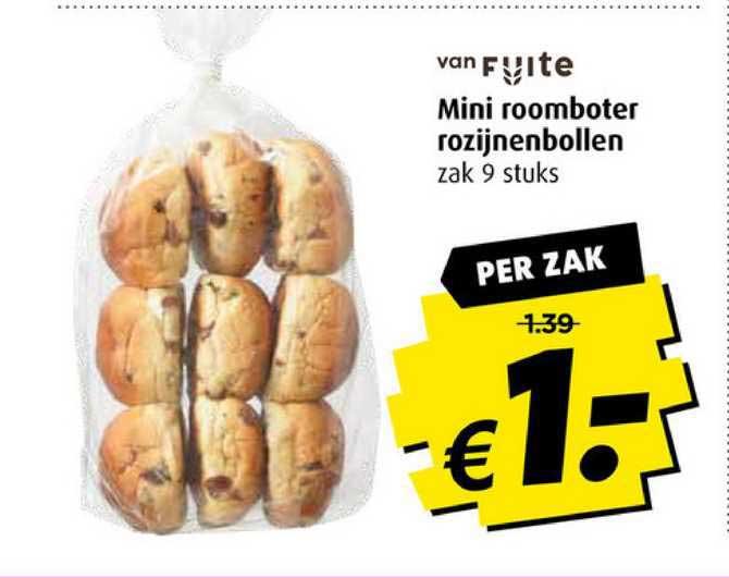 Boni Mini Roomboter Rozijnenbollen