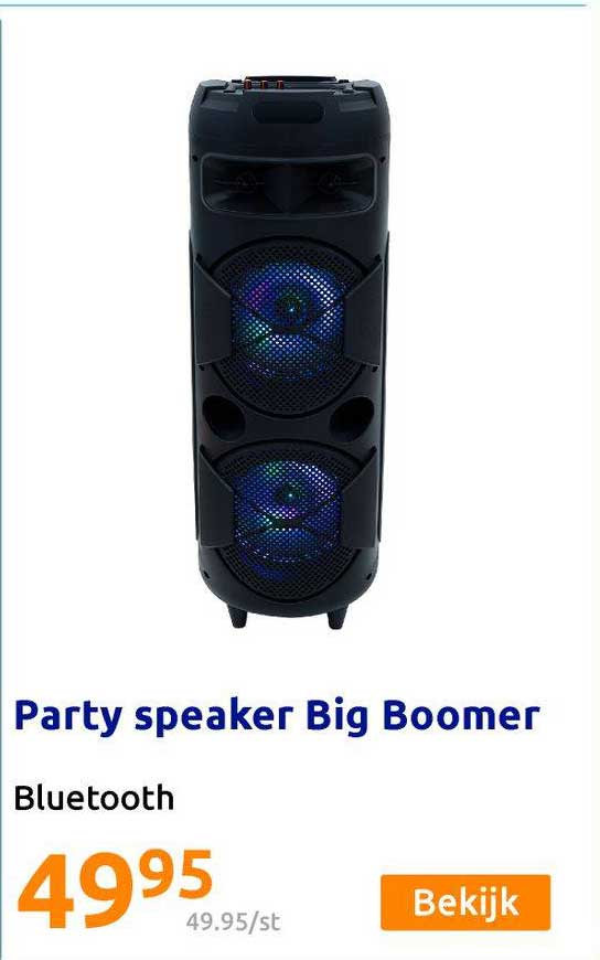 Action Party Speaker Big Boomer