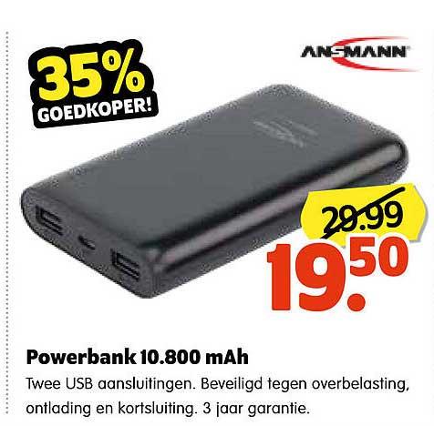Plentyparts Powerbank 10.800 MAh