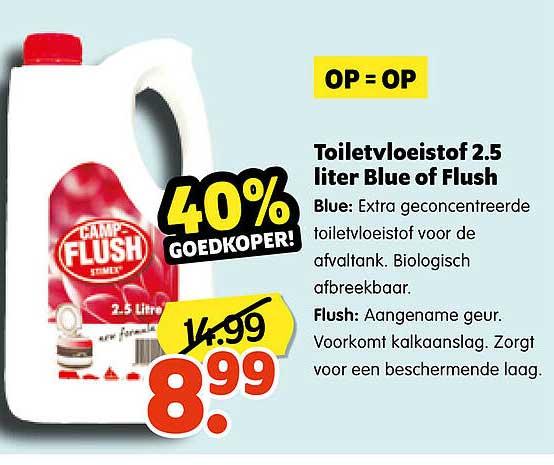 Plentyparts Toiletvloeistof 2.5 Liter Blue Of Flush