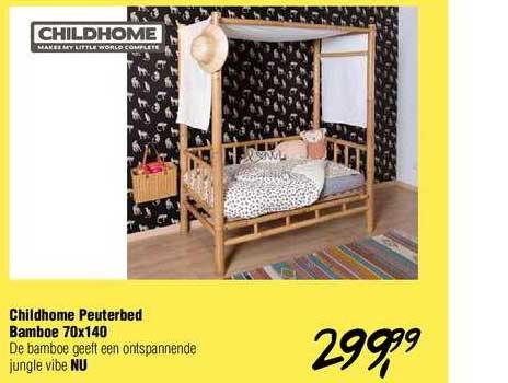 Van Asten Childhome Peuterbed Bamboe 70x140