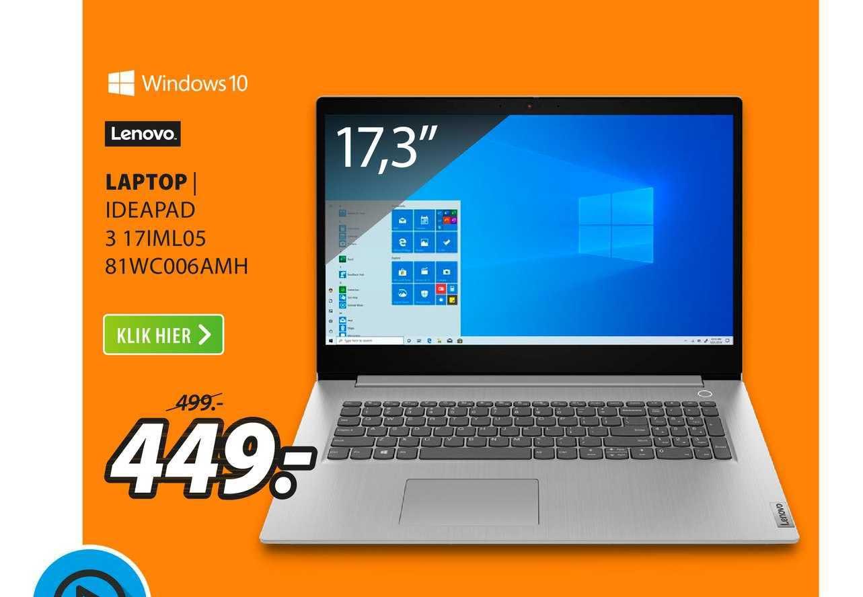 Expert Lenovo Laptop | Ideapad 3 17IML05 81WC006AMH