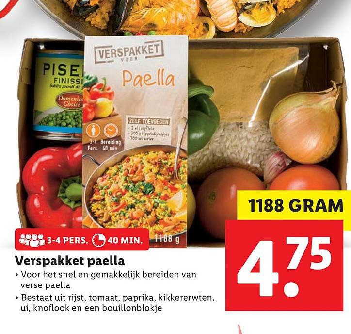 Lidl Verspakket Paella