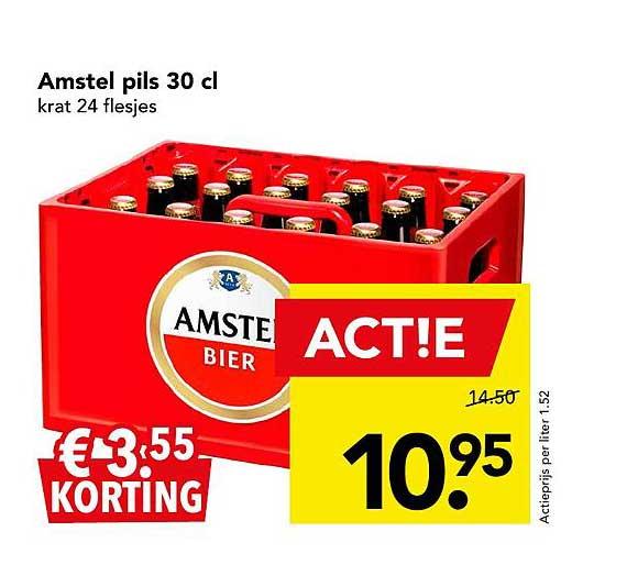 DEEN Amstel Pils 30 Cl € 3.⁵⁵ Korting