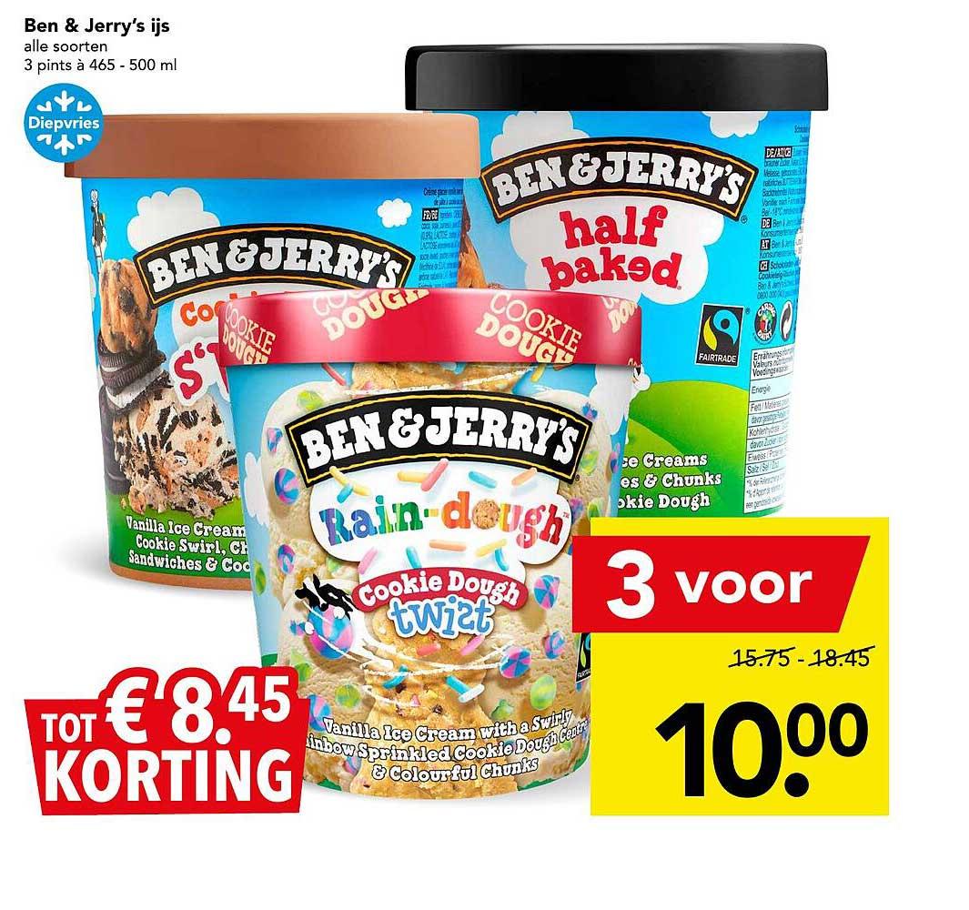 DEEN Ben & Jerry's Ijs Tot € 8.⁴⁵ Korting