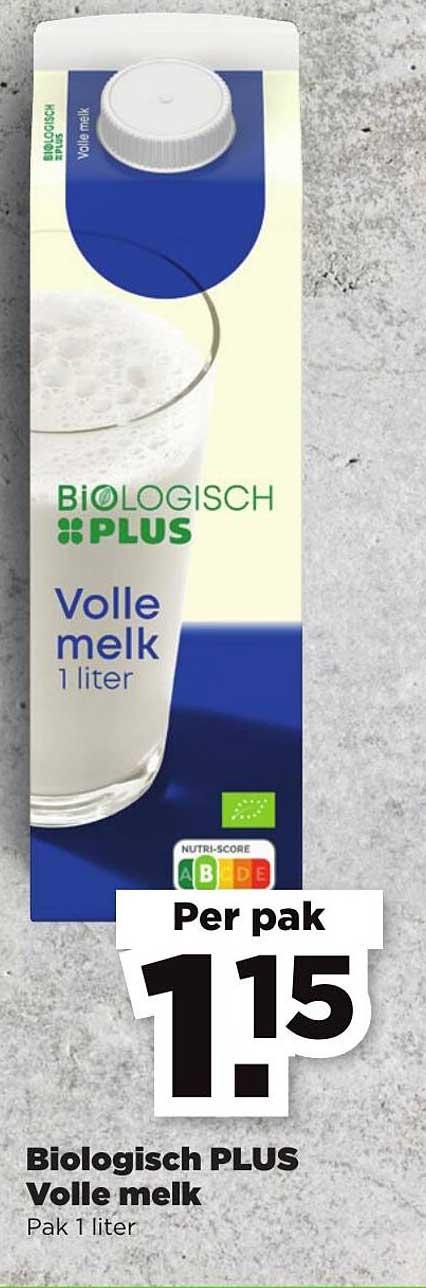 PLUS Biologisch Plus Volle Melk