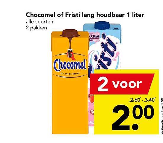 DEEN Chocomel Of Fristi Lang Houdbaar 1 Liter