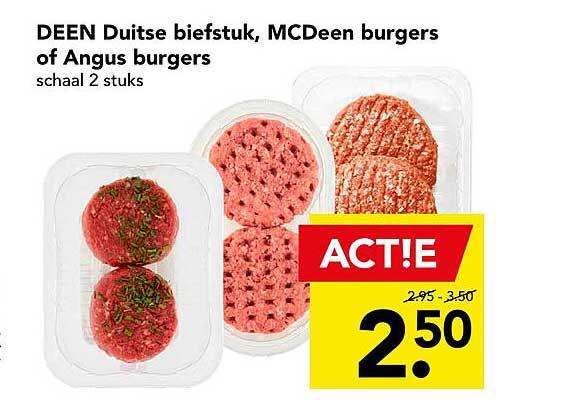 DEEN Deen Duitse Biefstuk, MCDeen Burgers Of Angus Burgers