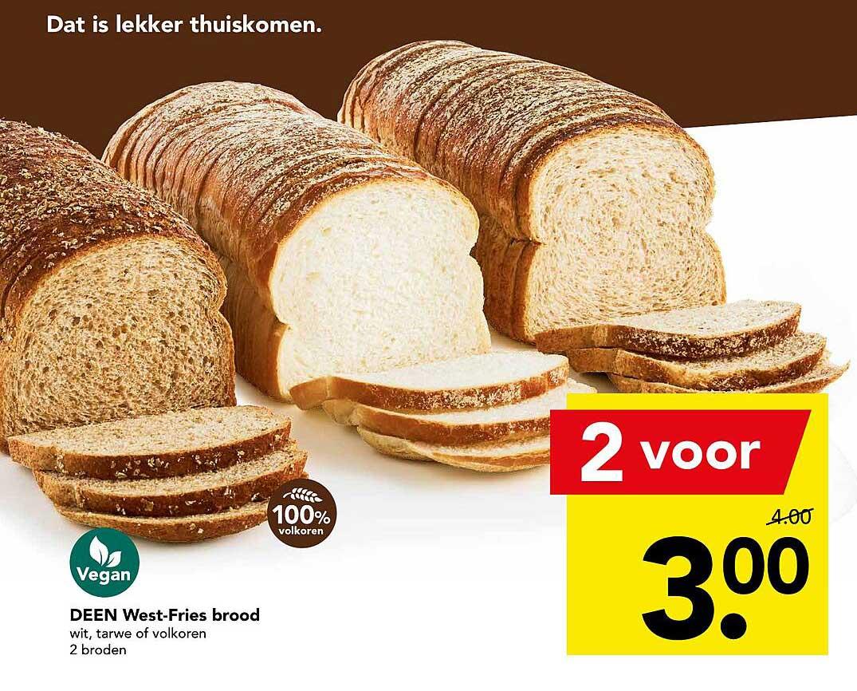 DEEN Deen West-Fries Brood Wit, Tarwe Of Volkoren