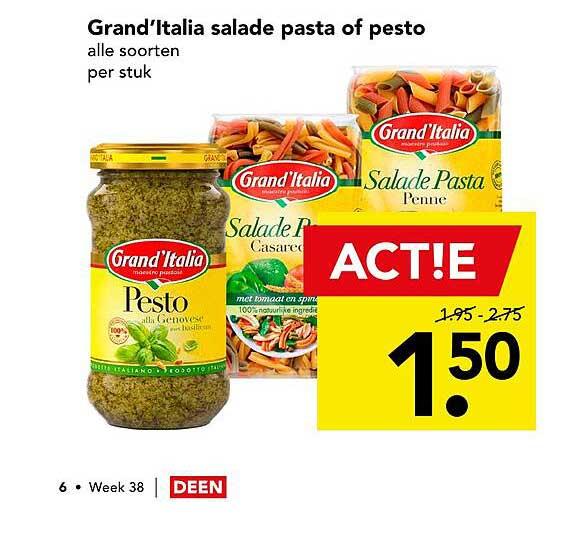 DEEN Grand'Italia Salade Pasta Of Pesto