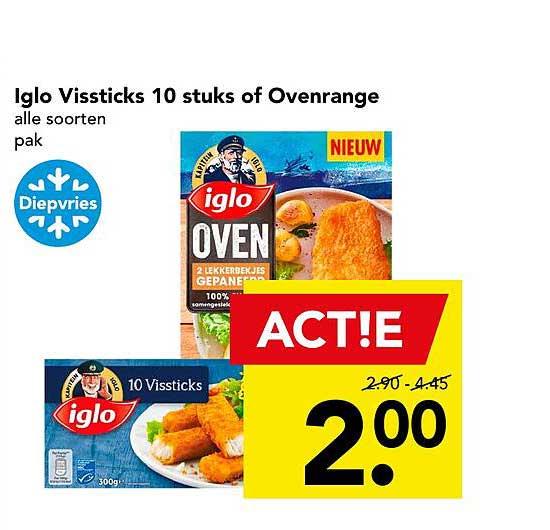 DEEN Iglo Vissticks 10 Stuks Of Ovenrange