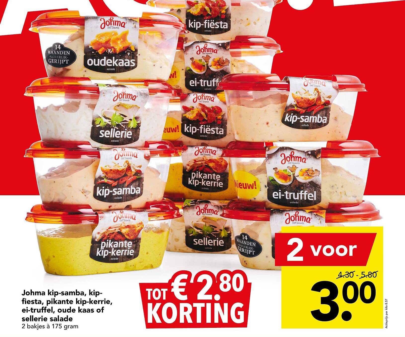 DEEN Johma Kip-Samba, Kip-Fiesta, Pikante Kip-Kerrie, Ei-Truffel, Oude Kaas Of Sellerie Salade Tot € 2.⁸⁰ Korting