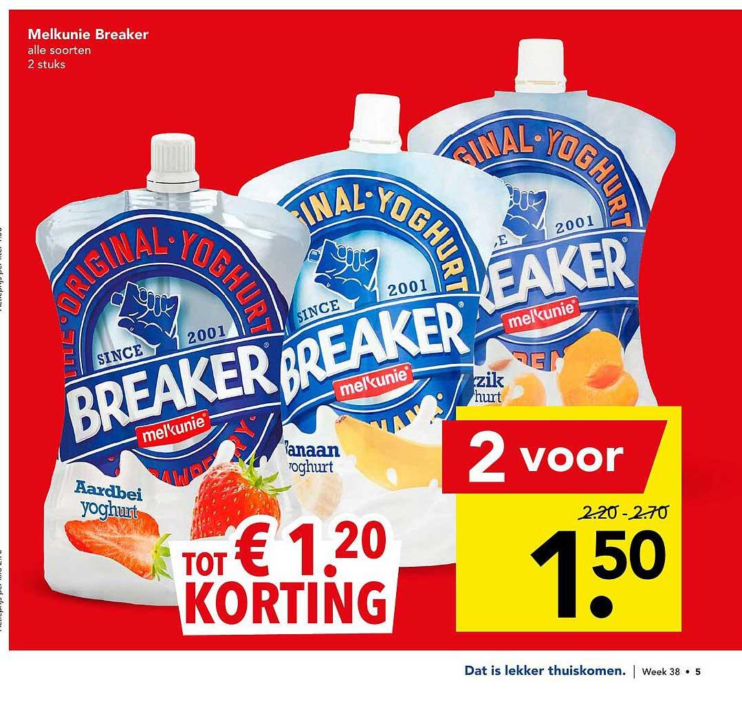 DEEN Melkunie Breaker Tot € 1.²⁰ Korting