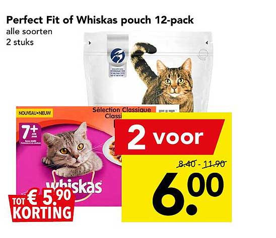 DEEN Perfect Fit Of Whiskas Pouch 12-Pack Tot € 5.⁹⁰ Korting