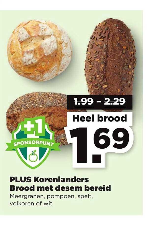 PLUS Plus Korenlanders Brood Met Desem Bereid
