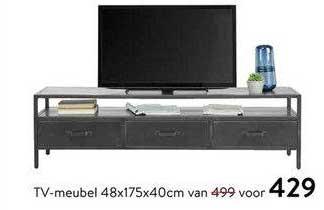 Profijt Meubel TV-Meubel 48x175x40cm