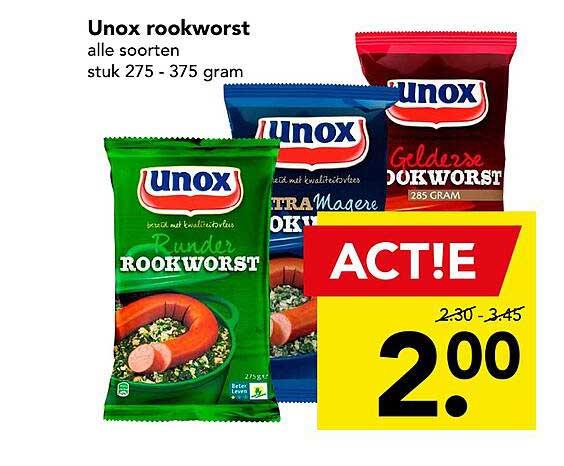 DEEN Unox Rookworst