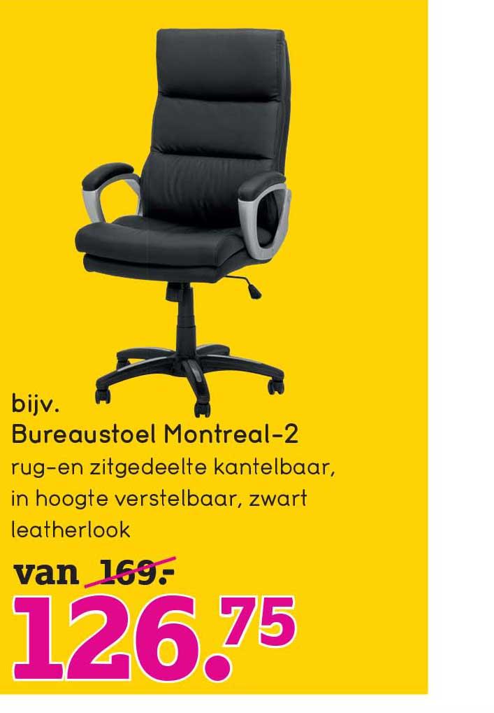 Bureaustoel Montreal 2 20% Korting Aanbieding bij Leen Bakker