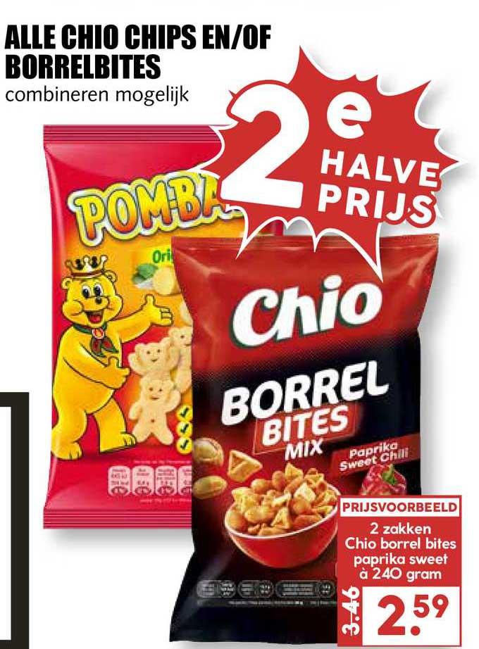MCD Supermarkt Alle Chio Chips En-of Borrelbites