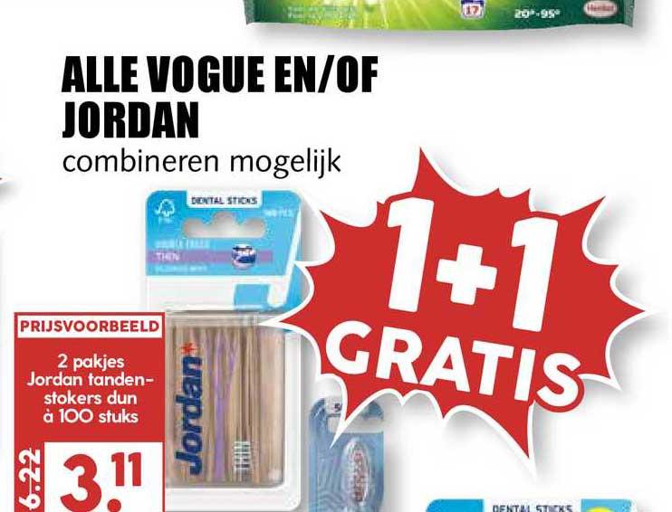 MCD Supermarkt Alle Vogue En-of Jordan 1+1 Gratis
