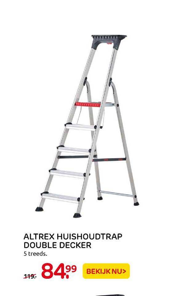 Praxis Altrex Huishoudtrap Double Decker 5 Treeds