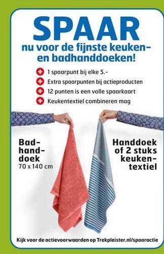 Trekpleister Badhanddoek Of Handdoek Of 2 Stuks Keukentextiel
