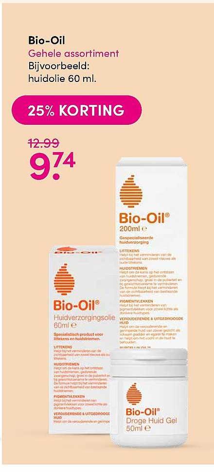 DA Bio-Oil Huidolie 25% Korting