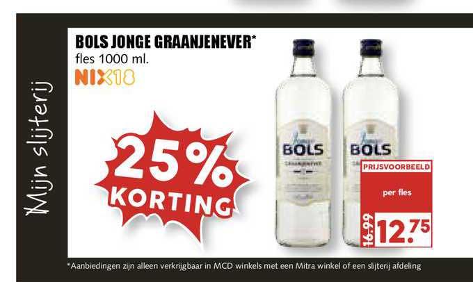 MCD Supermarkt Bols Jonge Graanjenever 25% Korting