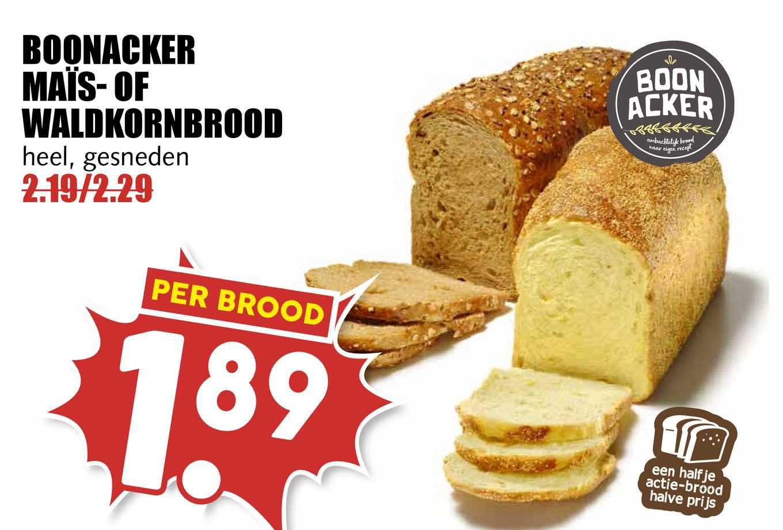 MCD Supermarkt Boonacker Maïs- Of Waldkornbrood