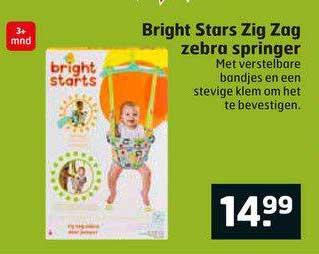 Trekpleister Bright Stars Zig Zag Zebra Springer