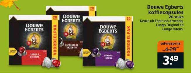 Trekpleister Douwe Egberts Koffiecapsules 20 Stuks