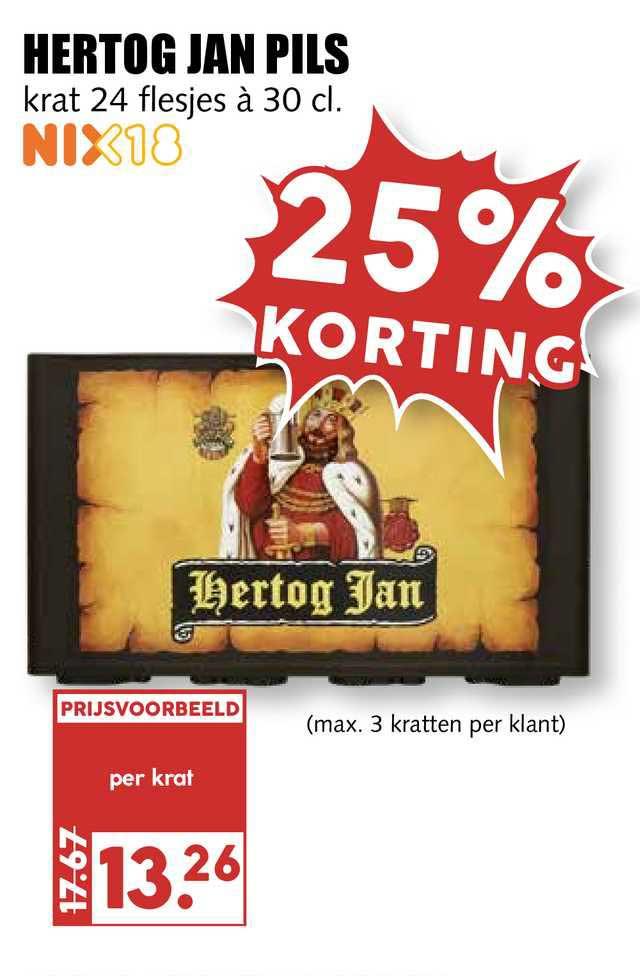 MCD Supermarkt Hertog Jan Pils 25% Korting