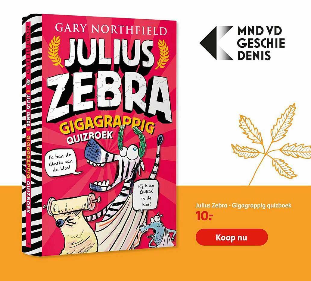 Bruna Julius Zebra - Gigagrappig Quizboek