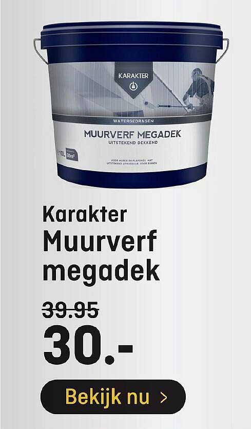 Hubo Karakter Muurverf Megadek
