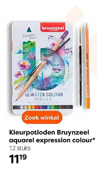 The Read Shop Kleurpotloden Bruynzeel Aquarel Expression Colour