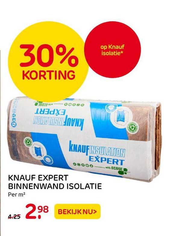 Praxis Knauf Expert Binnenwand Isolatie 30% Korting
