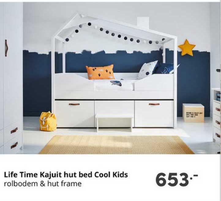Baby & Tiener Life Time Kajuit Hut Bed Cool Kids Rolbodem & Hut Frame