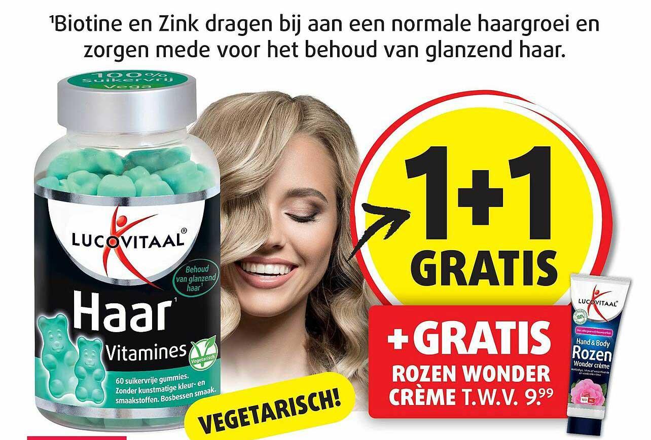 Lucovitaal Lucovitaal Haar Vitamines 1+1 Gratis