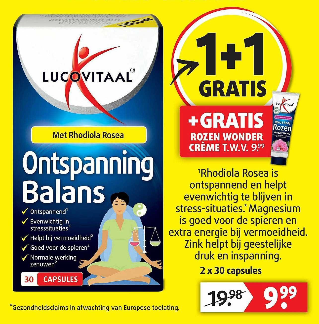 Lucovitaal Lucovitaal Ontspanning Balans 1+1 Gratis