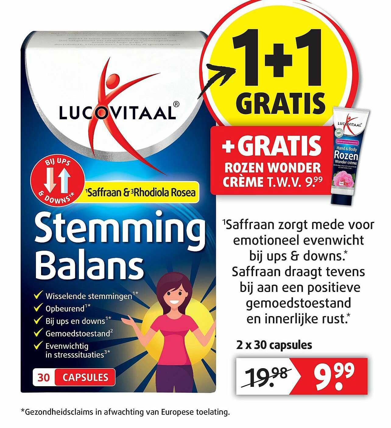 Lucovitaal Lucovitaal Stemming Balans 1+1 Gratis