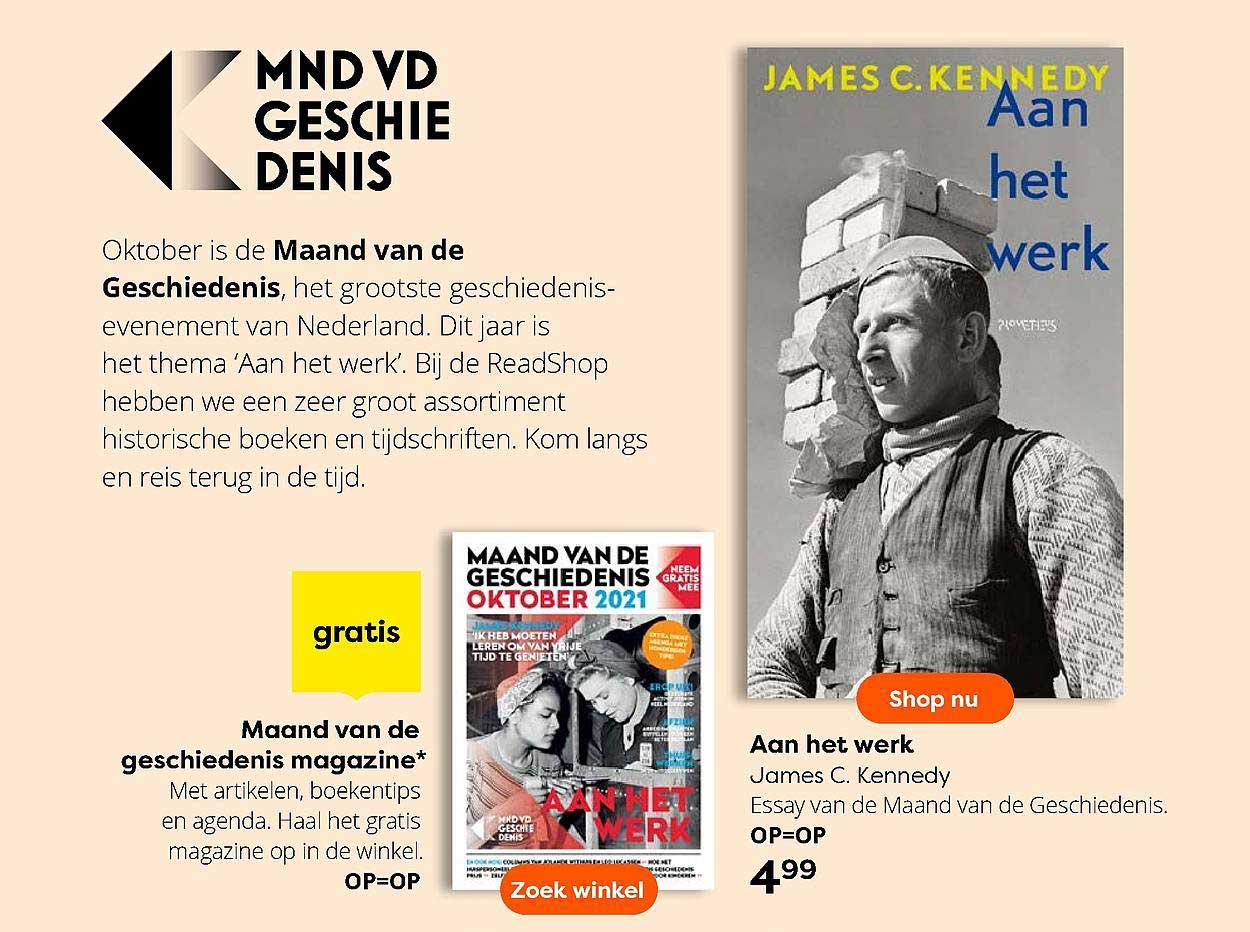 The Read Shop Maand Van De Geschiedenis Magazine Of Aan Het Werk James C. Kennedy