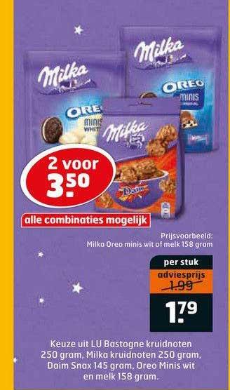 Trekpleister Milka Oreo Minis Wit Of Melk 158 Gram