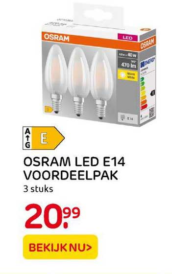 Praxis Osram LED E14 Voordeelpak