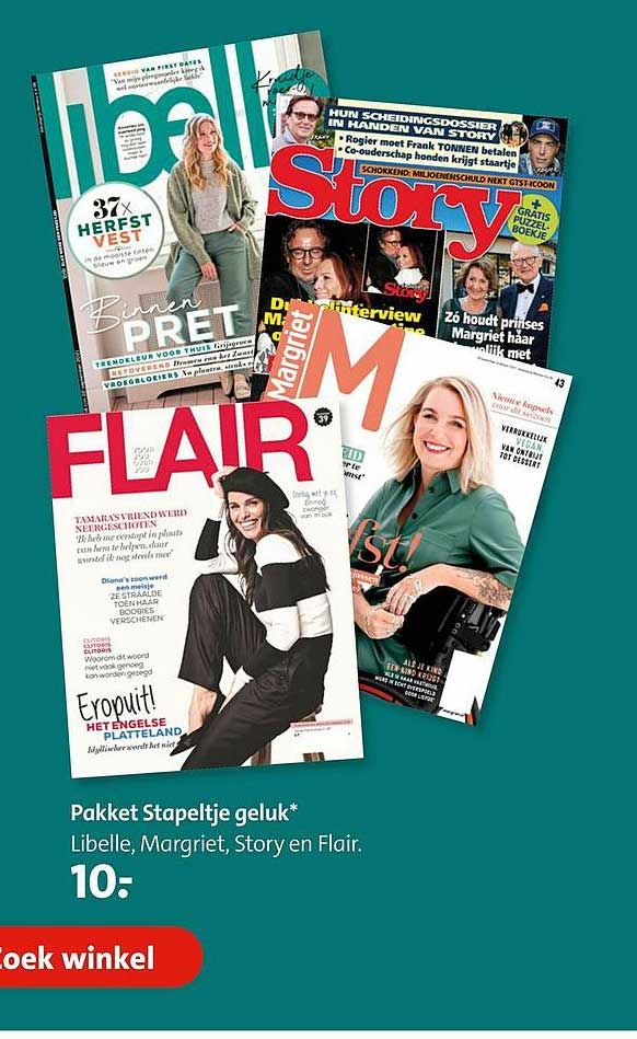Bruna Pakket Stapeltje Geluk Libelle, Margriet, Story En Flair