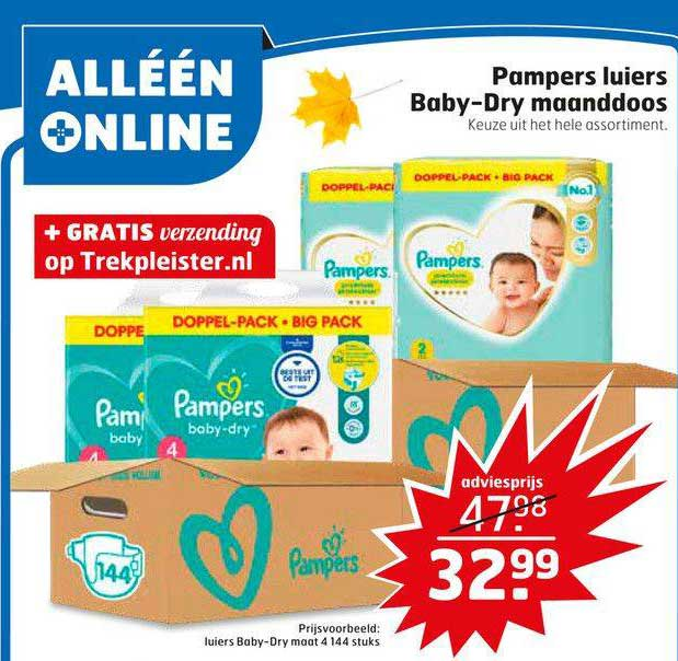 Trekpleister Pampers Luiers Baby-Dry Maanddoos